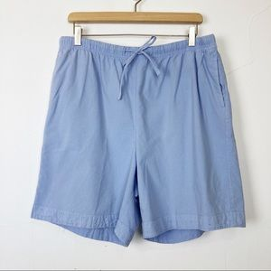 Vintage high waisted cotton mom shorts baby blue